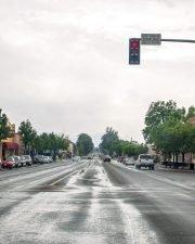 rainy day on main street photo Ramaona, ca