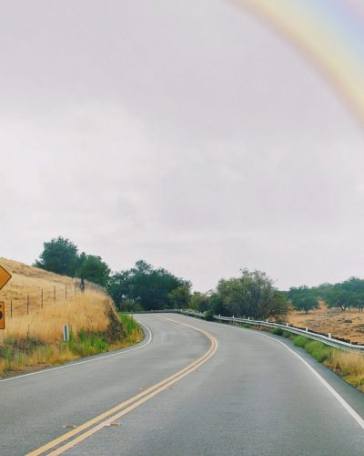 road and rainbow photo print in San Diego, CA