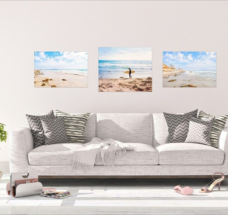 san diego beach set of 3 canvas wall art collection nature photo gift pro